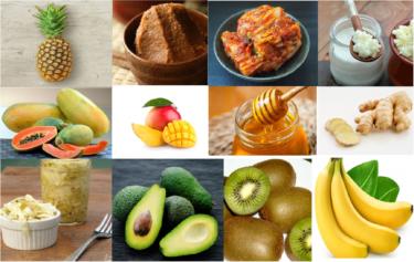 天然の消化酵素を含む12の食品